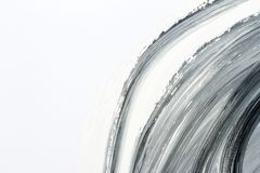 Abstract black and white hand painted background. Abstract brushed black and white hand painted acrylic background, creative abstract hand painted background Stock Photography