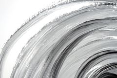 Abstract black and white hand painted background. Abstract brushed black and white hand painted acrylic background, creative abstract hand painted background Royalty Free Stock Image