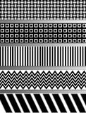 Abstract Black and White Illustration in Layers Stock Photography