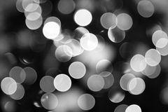 Abstract Black and White lights. Stock Photo