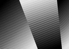 Abstract black white lines refraction vector background. Abstract black and white lines refraction geometric background. Vector tech design Stock Photography