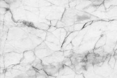 Abstract black and white marble patterned (natural patterns) texture background. Royalty Free Stock Photography