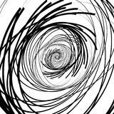 Abstract black and white, monochrome spirally background, patter Stock Image