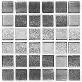 Abstract black and white mosaic tiles for background Stock Image