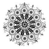 Abstract Black White Motif Design Royalty Free Stock Photos
