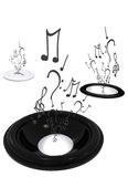 Abstract black and white music background Royalty Free Stock Photos
