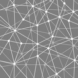 Abstract black and white net seamless background Royalty Free Stock Images