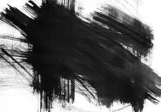 Abstract Black And White Background. Abstract black and white painted background vector illustration
