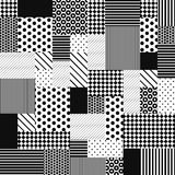 Abstract Black and White Patchwork Stock Image