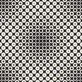 Abstract black and white pattern background. Seamless geometric circle halftone. Stylish modern texturen Stock Image