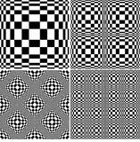 Abstract black and white pattern set Stock Image