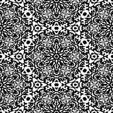 Abstract black and white pattern. Texture background. Stock Images