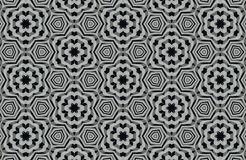 Abstract black and white patterns background Stock Images