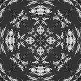 Abstract black and white retro pattern reminiscent of lace Stock Images