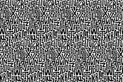 Black and white seamless pattern with characters Royalty Free Stock Photos