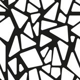 Abstract black and white seamless pattern. Stock Photos
