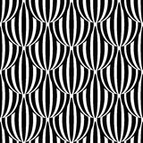 Abstract black and white seamless pattern. Royalty Free Stock Photos