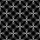 Abstract black and white seamless vector pattern with stars. Royalty Free Stock Images