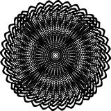 Abstract black and white shape background. Optical illusion of distorted surface. Twisted stripes. Abstract twisted black and white shape background. Optical stock illustration