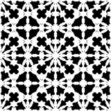 Abstract black & white specular ornament, seamless pattern. Vector monochrome texture, abstract black & white ornament. Illustration of lattice in oriental style Royalty Free Illustration