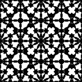 Abstract black & white specular ornament, seamless pattern stock illustration
