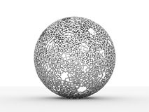 Abstract black and white sphere Royalty Free Stock Image