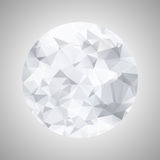 Abstract black and white sphere polygonal Stock Photos