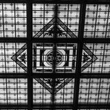 Abstarct Black and White stain glass Hoboken Termianl royalty free stock photo