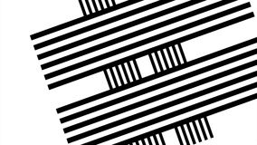Abstract black and white stripe background with shade. Abstract black and white twirl background, Vortex. blck and white. Swirl or cubes 4K stock video
