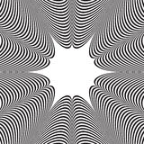 Abstract  black and white striped background. Optical illusion Stock Images