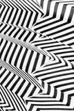 Abstract black and white stripes Stock Photography