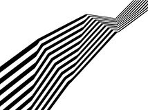 Abstract black and white stripes bent ribbon geometrical shape Stock Photo