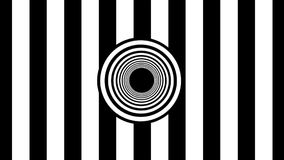Abstract Black and White stripes. 3d rendering. Background Royalty Free Stock Image