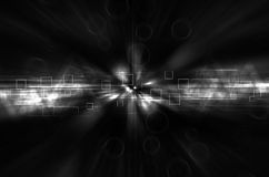 Abstract black and white tech background Stock Image