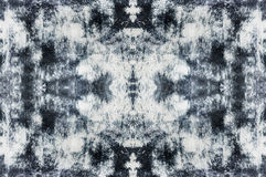 Abstract black and white texture background. Pattern, with central symmetry, in ethno, grunge, batik style Royalty Free Illustration