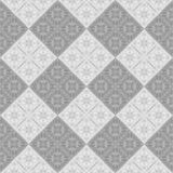Abstract black and white tile pattern. Gray checked tiled texture background. Seamless illustration. Stock Photos
