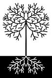 Abstract black and white tree Stock Photos