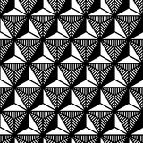 Abstract black and white triangle geometric pattern in style of the 80s Royalty Free Stock Photography