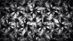 Abstract black and white triangle polygon wallpaper Royalty Free Stock Photo