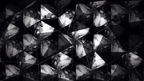 Abstract black and white triangle polygon wallpaper Stock Images