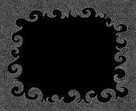 Abstract black and white vector decorative frame Stock Photography