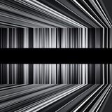 Abstract black and white warped stripes background Stock Photos