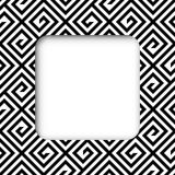 Abstract Black and White ZigZag Vector Frame Banner Stock Photo