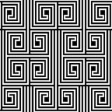 Abstract Black and White ZigZag Vector Seamless Pattern Royalty Free Stock Photos