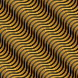 Abstract black and yellow 3D waves. Seamless pattern. Vector illustration Stock Photography