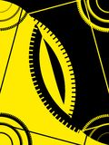Abstract black yellow frame. Abstract black and yellow frame illustration Royalty Free Stock Photo
