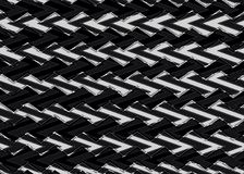 Abstract Black Zigzag pattern. Stock Image