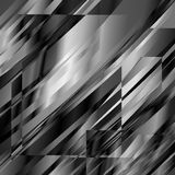Abstract blackandwhite metal glitch squared background for design. Vector Eps10 illustration Stock Photography