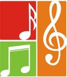 Abstract blad van muziek met witte achtergrond vector illustratie