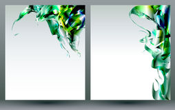 Abstract blank backgrounds templates. Abstract art backgrounds for brochures and flyers design Royalty Free Stock Image